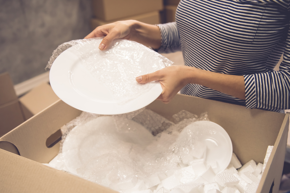 packing and storing dishes properly